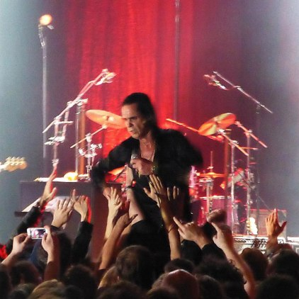 Nick Cave being groped