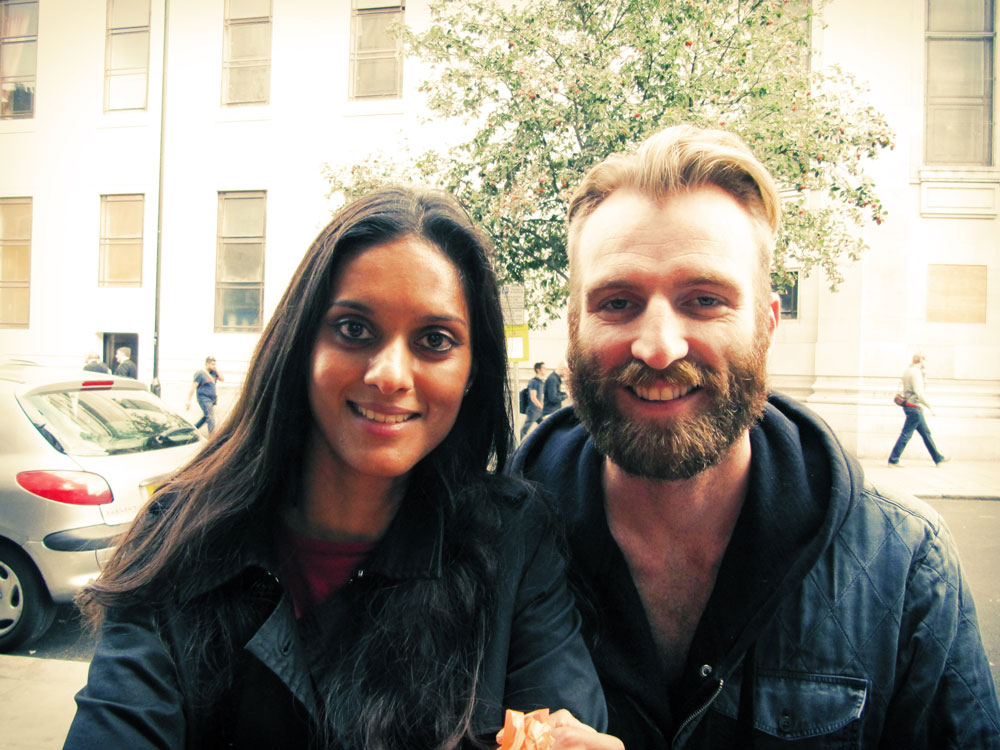 Portrait of Zarina and Ben Frost