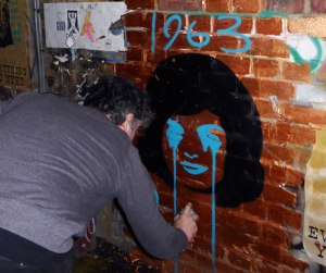 Pure Evil street art east London