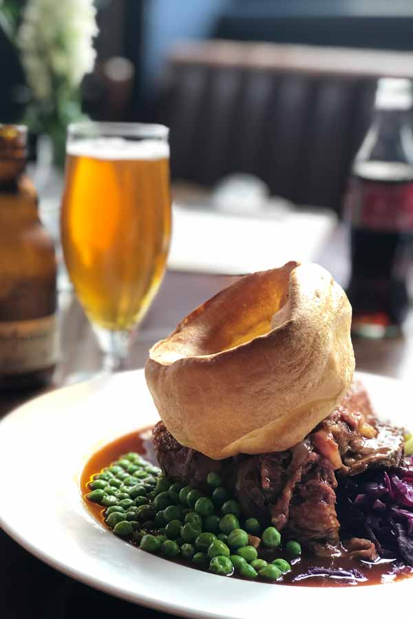 Sunday roast at The Devonshire Arms in Kensington, London