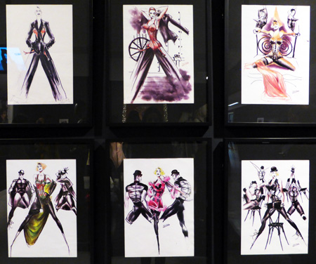 Costume sketches Blond Ambition tour by Madonna