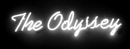 Neon sign The Oddyssey