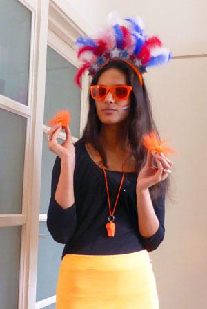 Orange football World Cup // Dutch Girl in London