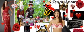 Queen of Hearts Outfit Moodboard Inspired byDebenhams