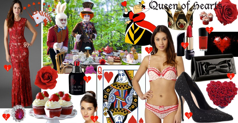 moodboard-debenhams-uk-blog-awards-alice-in-wonderland-queen-of-hearts