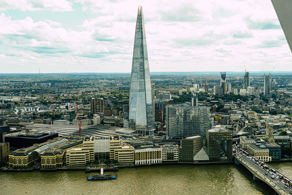 view of The Shard London