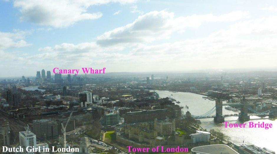 Tower of London Tower Bridge Canary Wharf