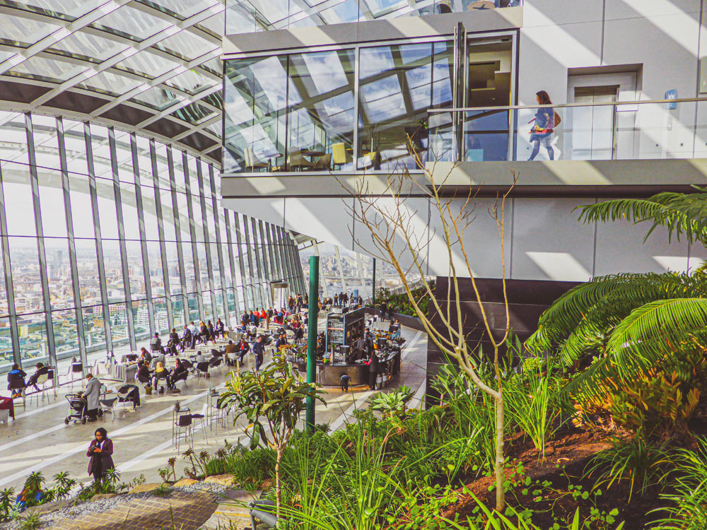 interior of Sky Garden London