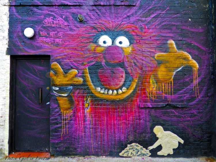 Street art in Camden of the Muppet Show by Gnasher