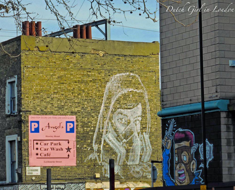 portrait of a female graffiti artist in Camden