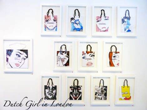 Chanel & Dior bags Ben Frost StolenSpace Gallery London
