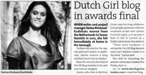 East End Life 13-04-2015 dutch girl in london blog uk blog awards