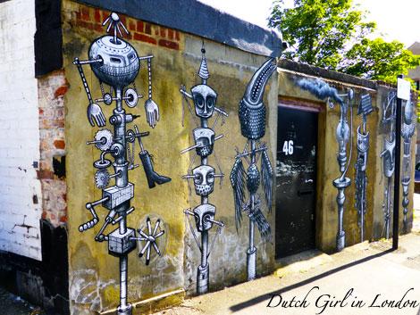 Phlegm walthamstow E17 street art wood street walls