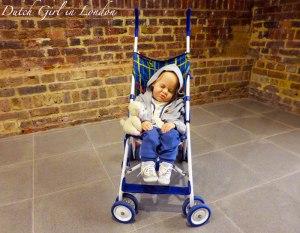 Baby in stroller Duane Hanson Serpentine Gallery London