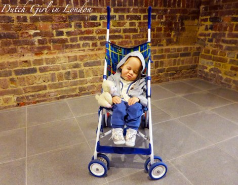 Baby in stroller Duane Hanson Serpentine Gallery London