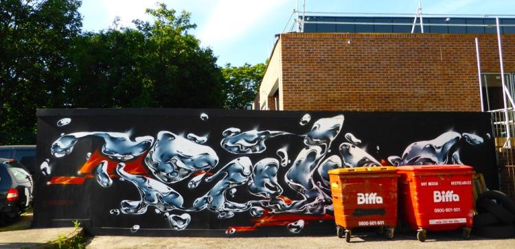 graffiti by Dave Bonzai in Walthamstow