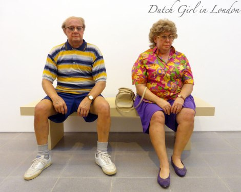 Old Couple on a Bench Duane Hanson Serpentine Gallery London