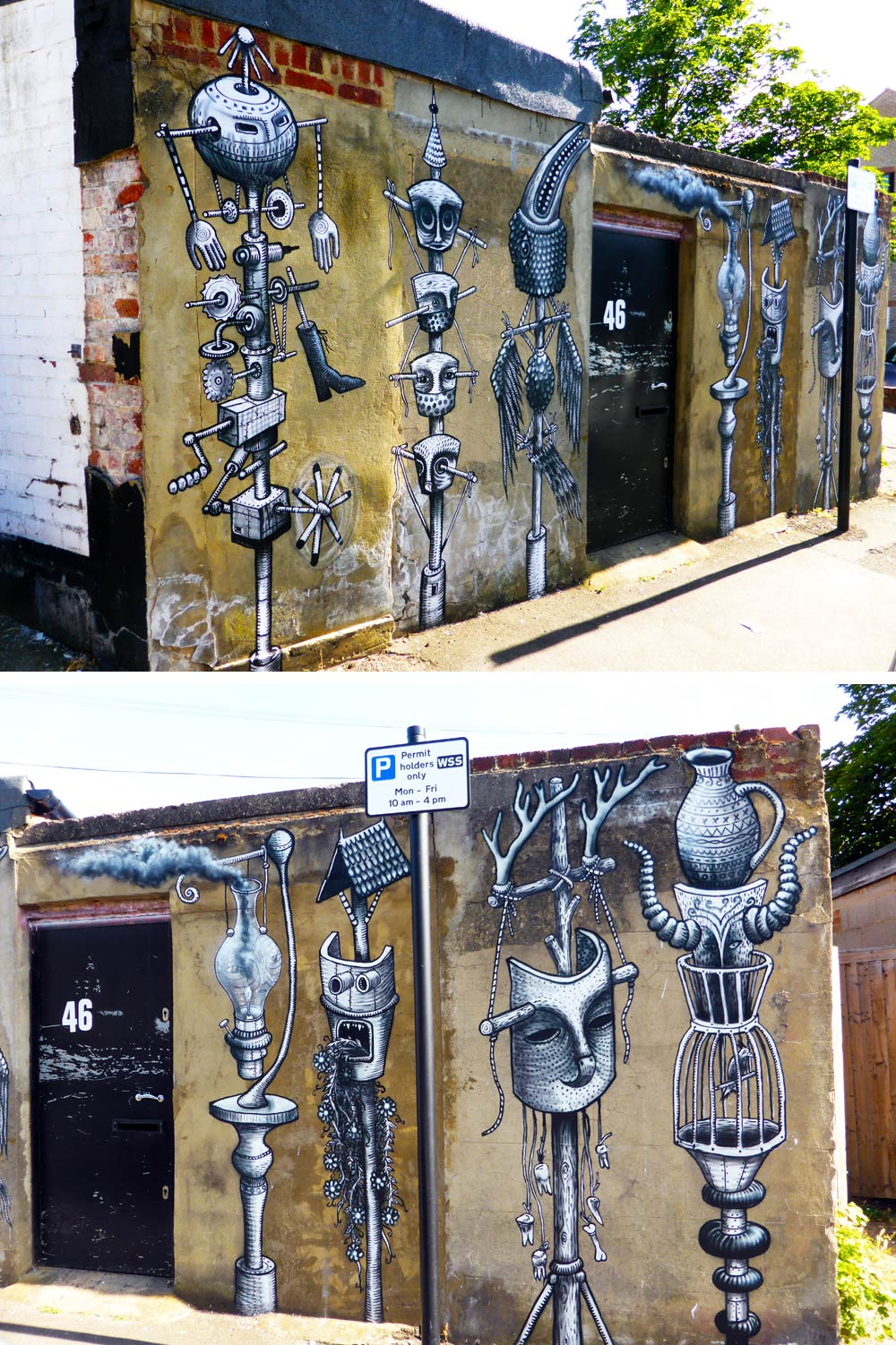 Phlegm street art in Walthamstow