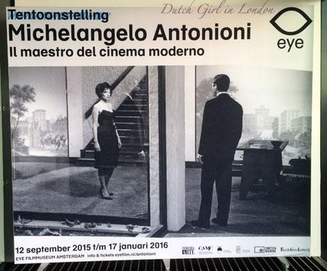 Michelangelo Antonioni exhibition at EYE film museum