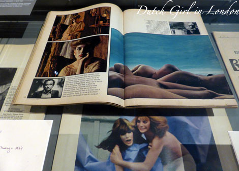 Article in Playboy magazine with photos by Michelangelo Antonioni at EYE film exhibition