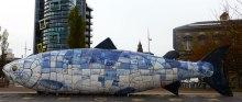 Big Fish sculpture at the waterfront