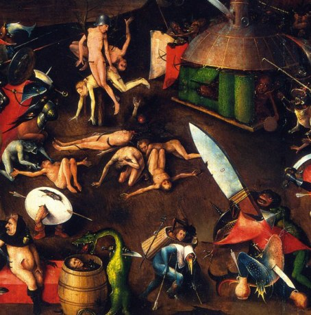 Detail of 'The Last Judgement' by Jeroen Bosch (1500-05)