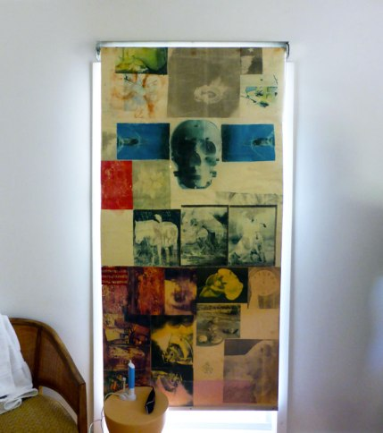 Curtain designed by Rauschenberg in the Beach House