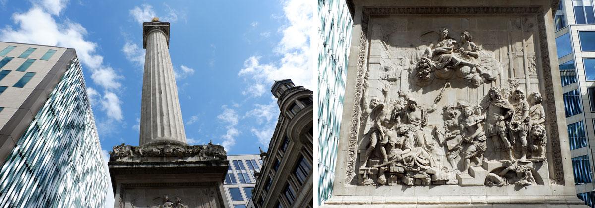 Historical London walk along London landmarks