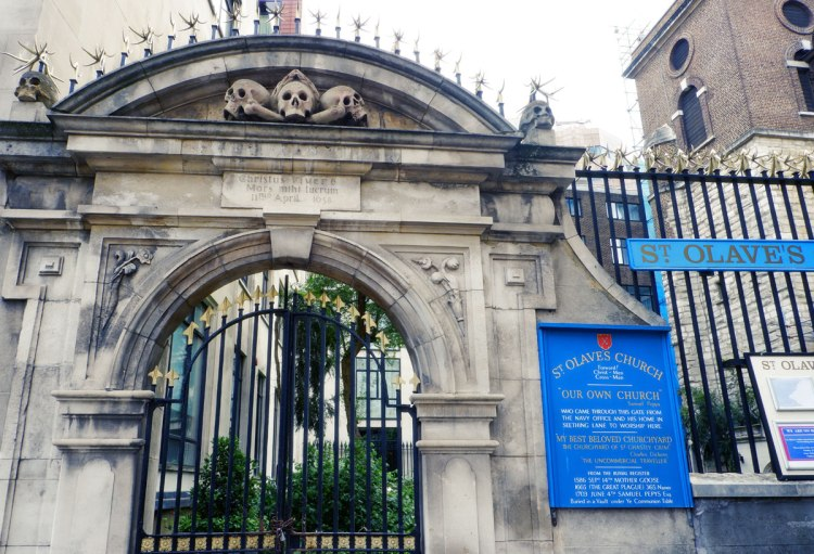 St Olave church skulls London history