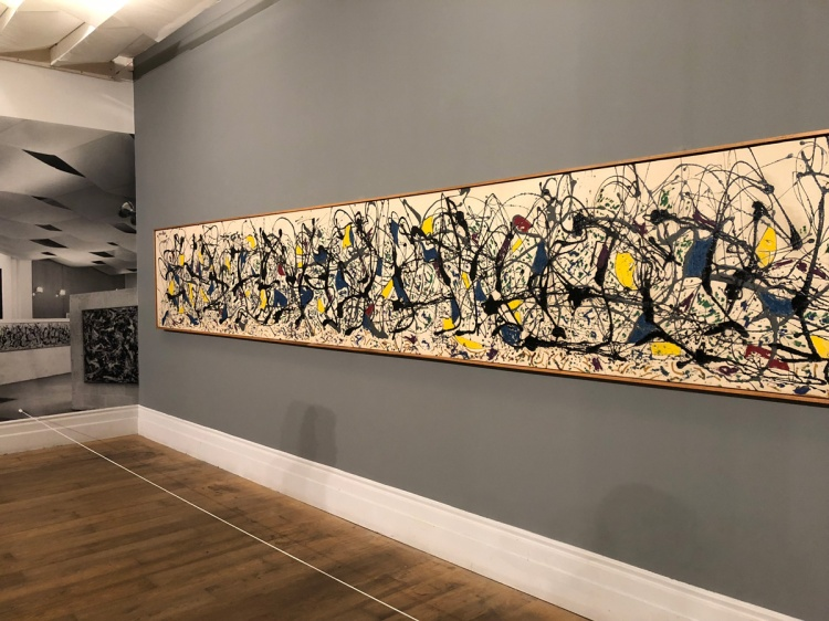 Staging Pollock exhibition at Whitechapel Gallery