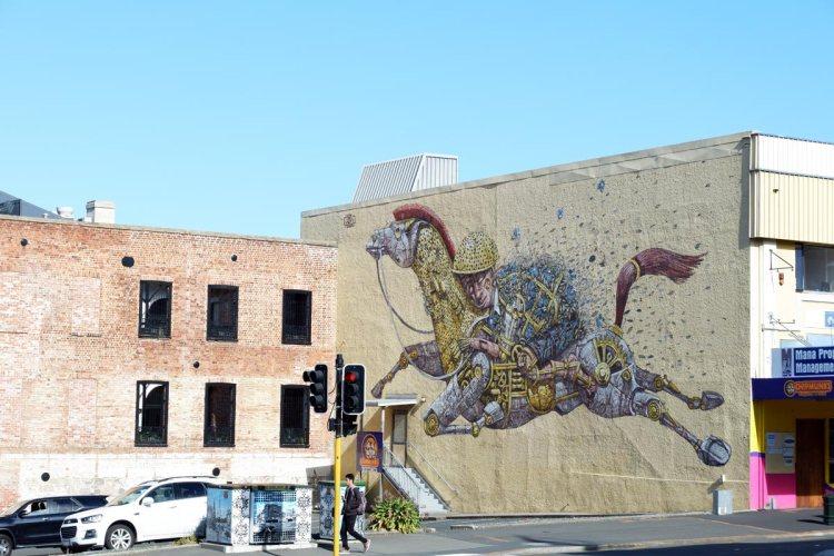 Pixel Pancho street art trail Dunedin