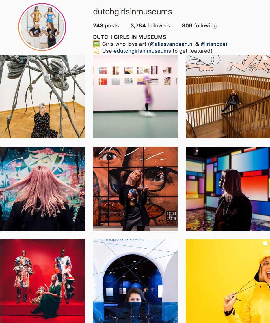 Dutch Girls in Museums Instagram // Dutch Girl in London