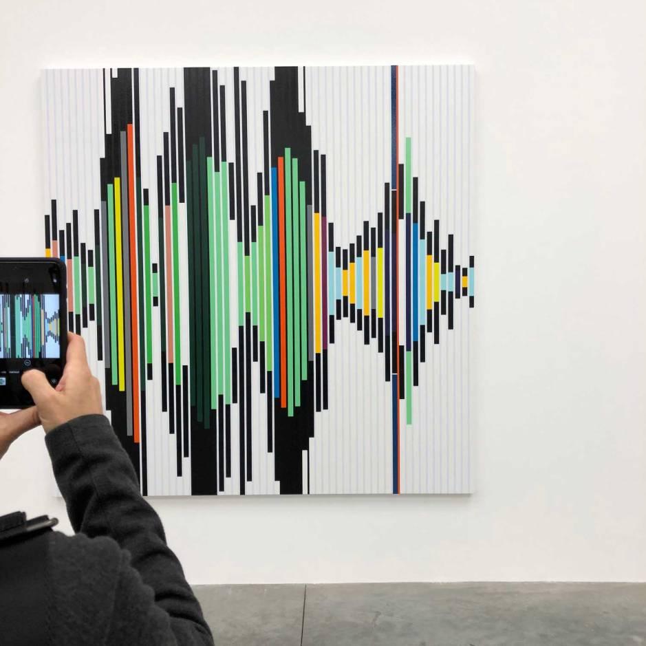Sarah Morris artwork at White Cube Bermondsey