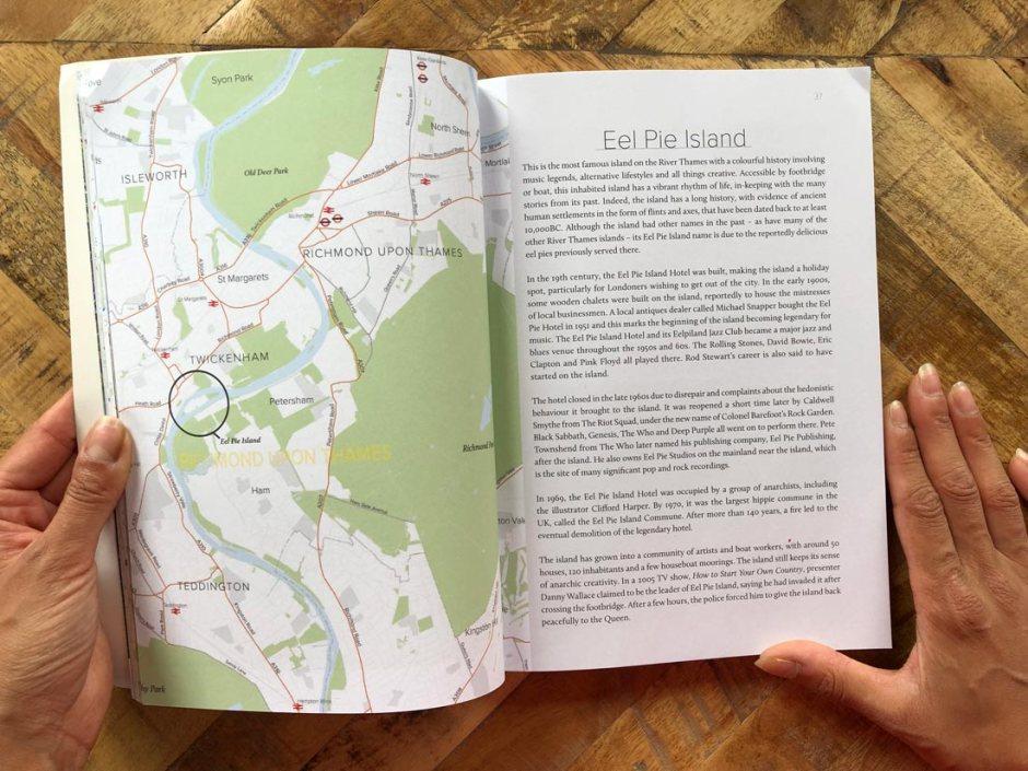 Map of Eel Pie Island London
