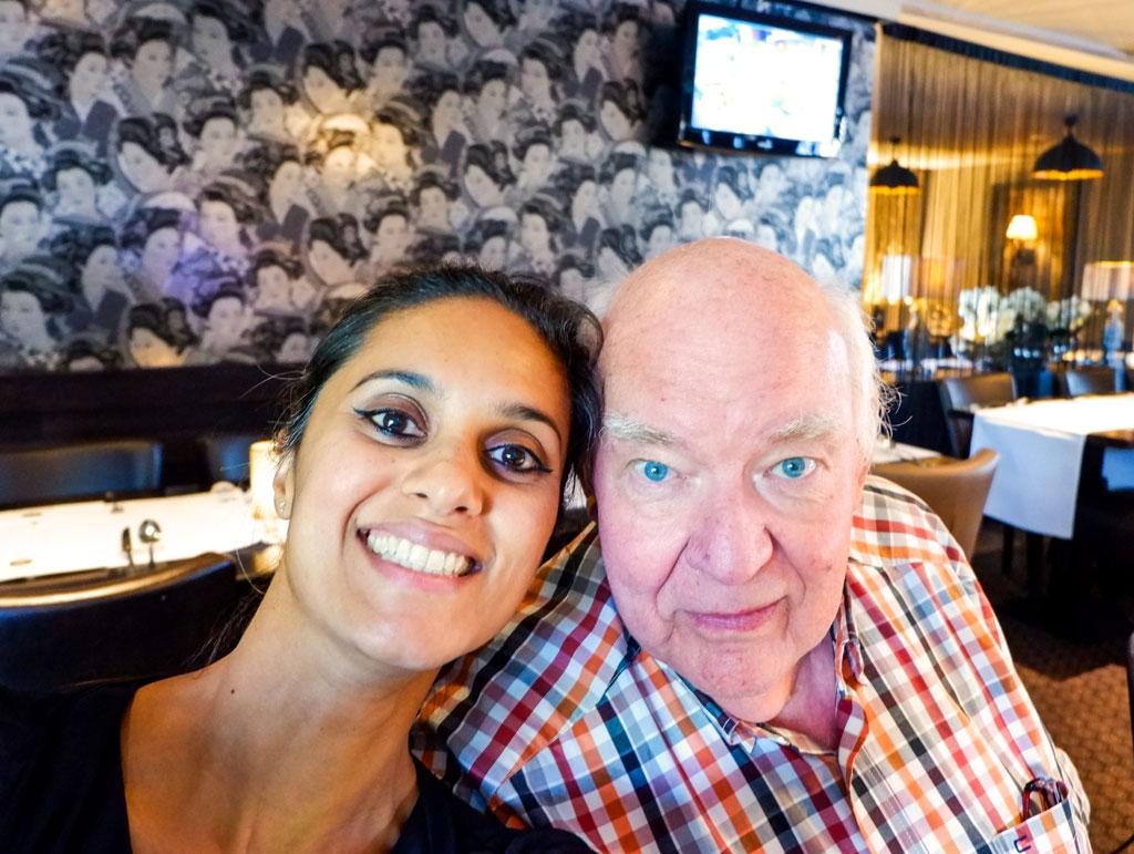 Samen met mijn vader op zijn 70e verjaardag