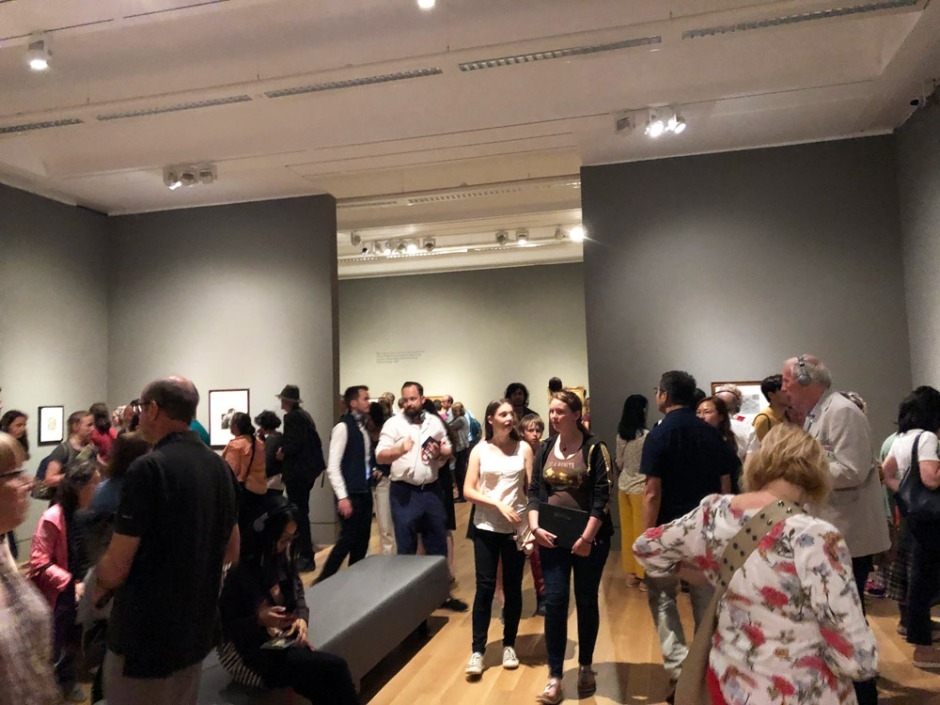 Crowds at the Van Gogh exhibition in Tate Britain