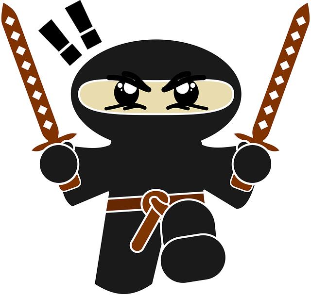 illustratie van een ninja