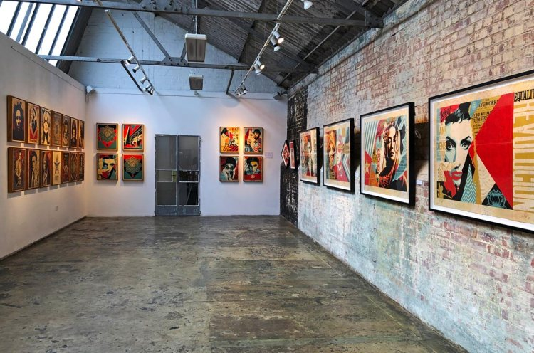 Shepard Fairey exhibition StolenSpace Gallery London 2019