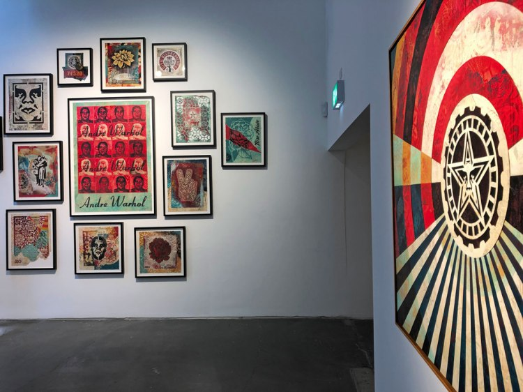Shepard Fairey London exhibition 2019 Face the Giant