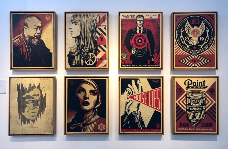 Shepard Fairey London exhibition StolenSpace Gallery artworks