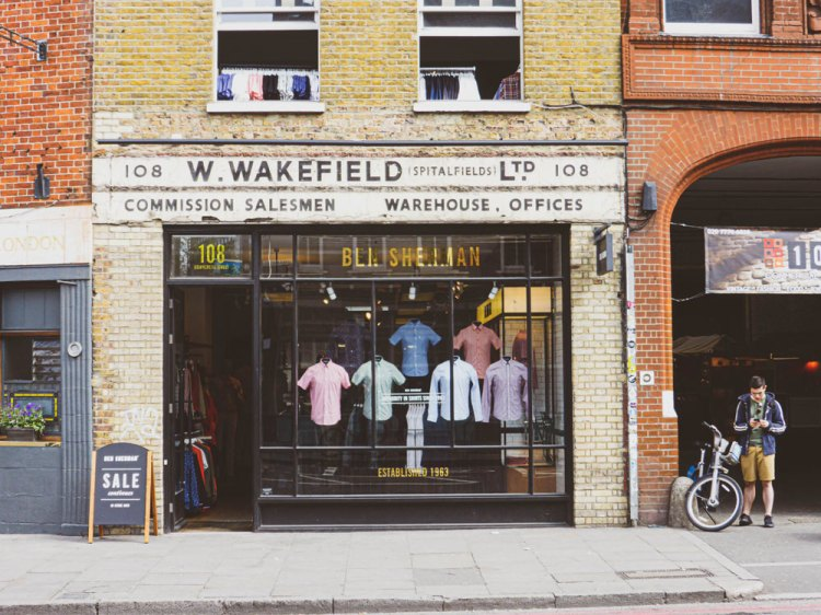 W. Wakefield is an example of old shop signs Shoreditch