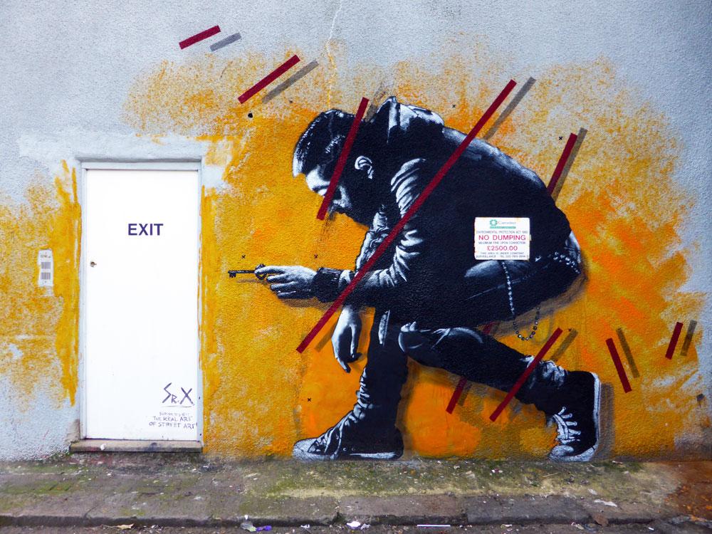 Sr.X street art in Camden London