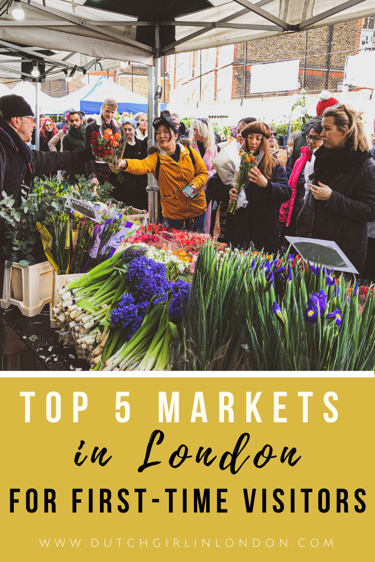 save this article about the best markets in London on Pinterest