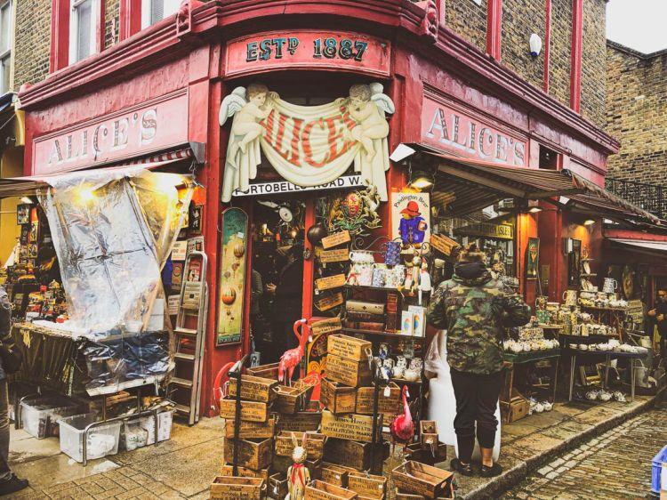 Alice's vintage shop on Portobello Road London appears in the Paddington Bear films