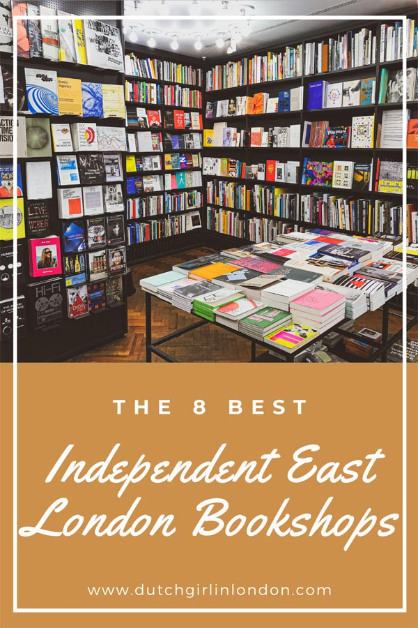 Pinterest image for the best Independent Bookshops in East London