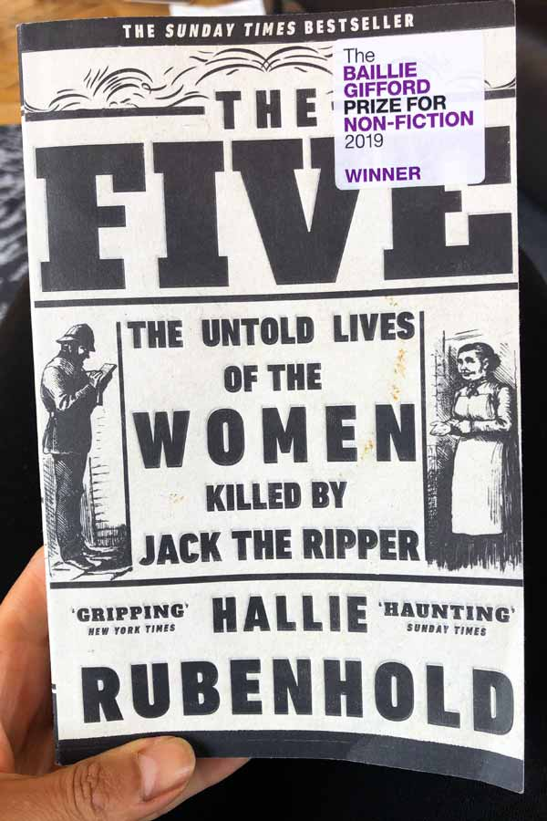 Book cover of The Five: The Untold Lives of the Women Killed by Jack the Ripper