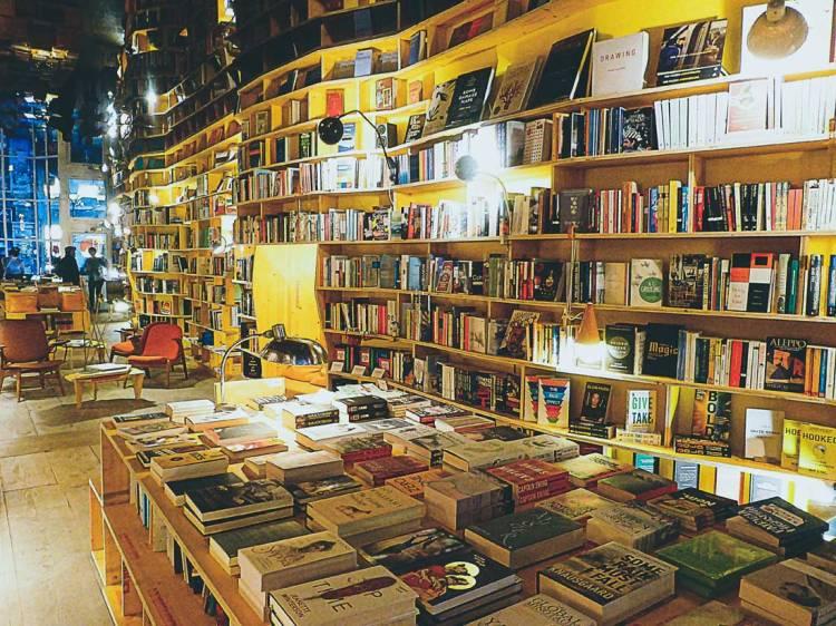 Book displays in Libreria Bookshop, Shoreditch, East London