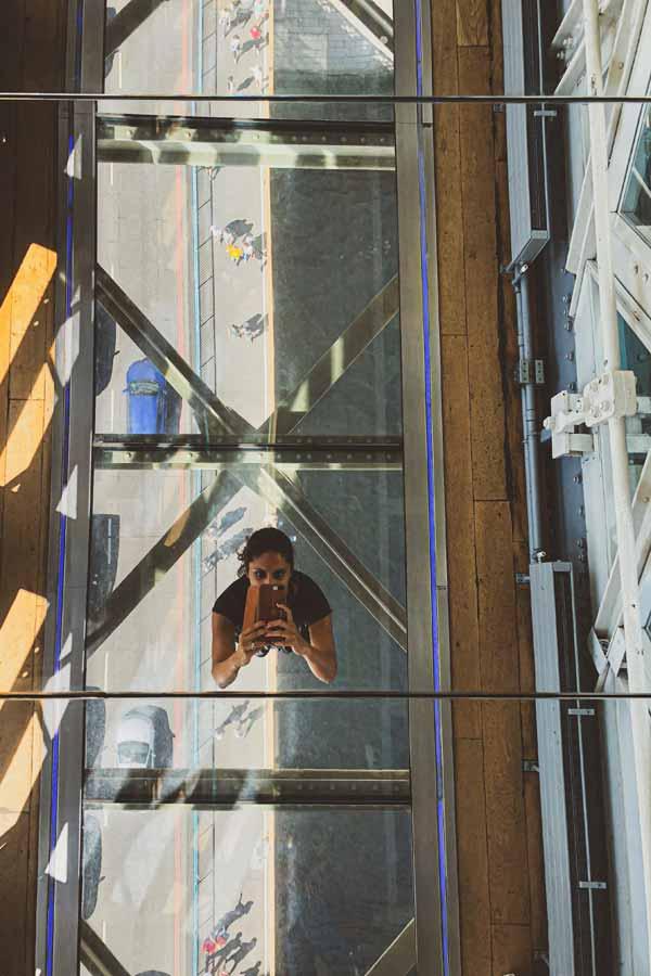 Selfie inside Tower Bridge, London