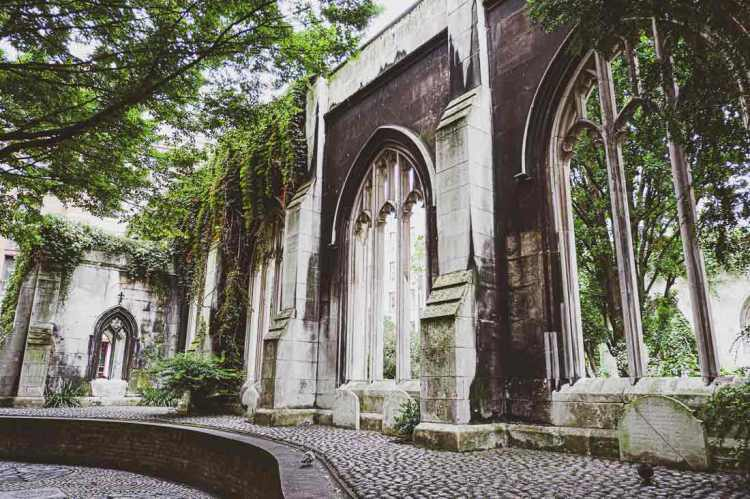 St Dunstan in the East London church ruins