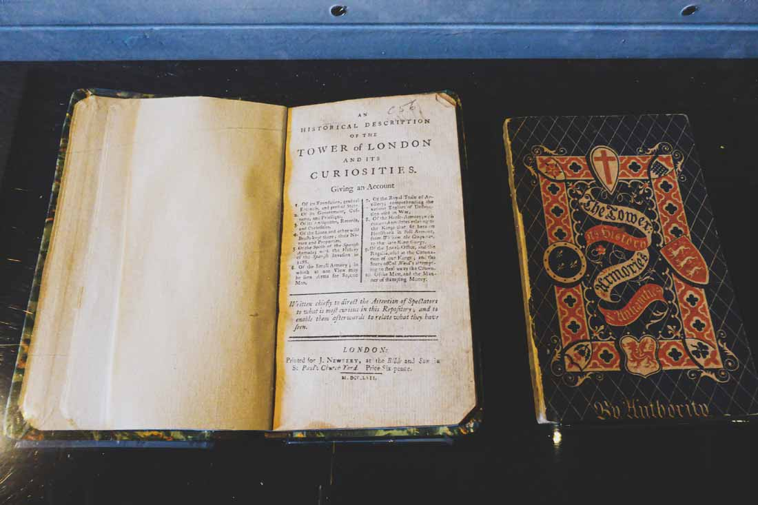 Old book about the Tower of London and its curiosities